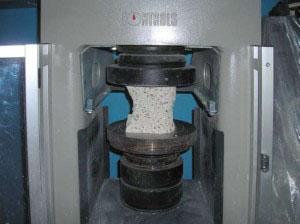 Prova a compressione del calcestruzzo